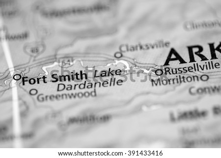 Lake Dardanelle. Arkansas. USA - stock photo