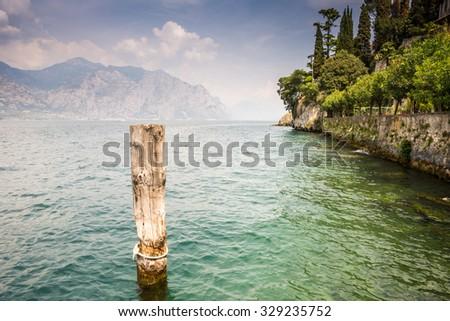 Lake Garda landscape in Italy - stock photo