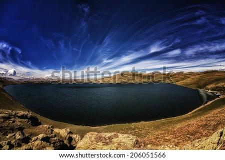 Lake Hdr Panorama - stock photo