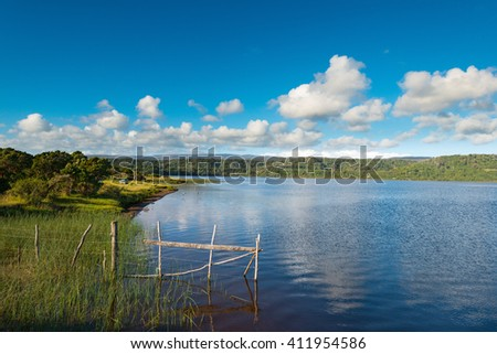 Lake Huillinco at Cucao, Chiloe Island