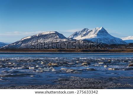 Lake, Iceland - stock photo
