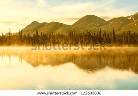 lake in Alaska - stock photo