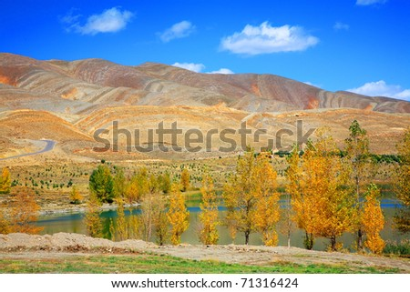 Lake in Atlas Mountains, Morocco, Africa