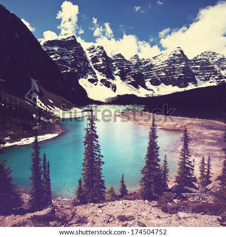 lake in Canada - stock photo