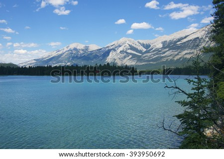 Lake in Icefields Parkway, Banff national park
