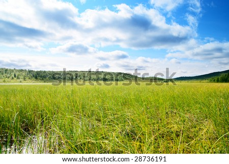 lake in north mountain - stock photo