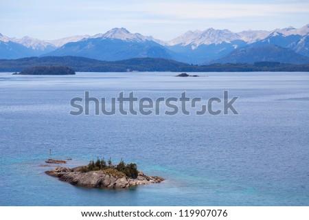 Lake in Patagonia, Argentina - stock photo