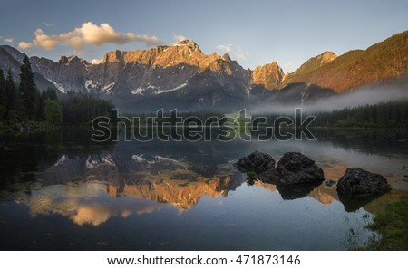Lake in the Julian Alps,Italy