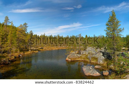 Lake Inari, Lappland, Finland, Scandinavia, Europe