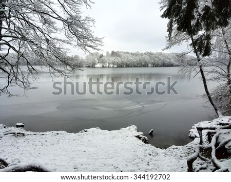 Lake Liepnitzsee in Winter - stock photo