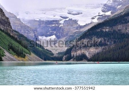 Lake louise at Banff national park in Alberta Canada - stock photo
