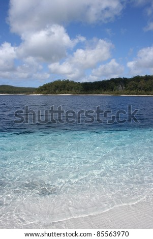 Lake MacKenzie on Fraser island off the Queensland coast of Australia - stock photo