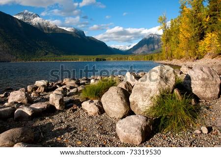 Lake McDonald, Glacier National Park - stock photo