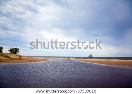 Lake Michigan - stock photo