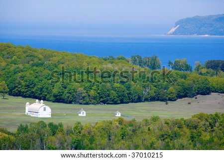 Lake Michigan in the northern part of the state - stock photo
