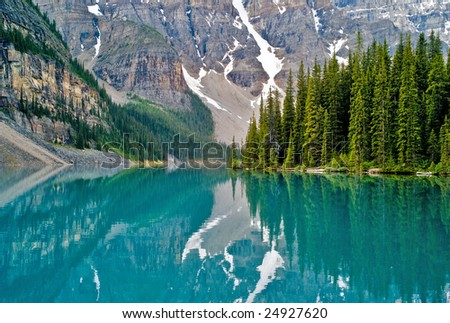Lake Moraine, Banff National Park, Canada - stock photo