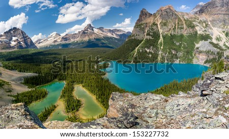 Lake O`Hara Aerial View