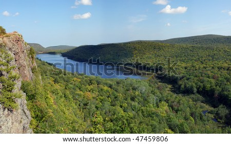 Lake of the clouds - stock photo