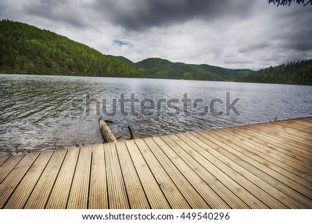 Lake on an  summer day