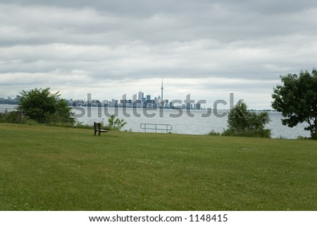 Lake Ontario view on Toronto skyline