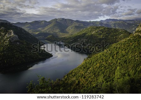 Lake Panorama - stock photo