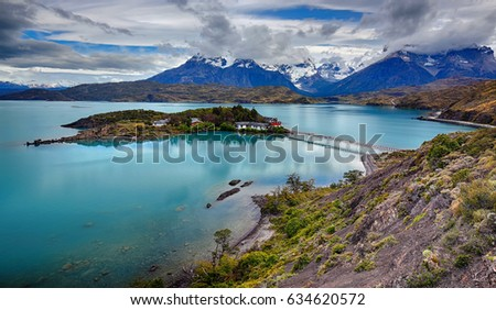 Lake Pehoe at Torres del Paine N.P. (Patagonia, Chile)