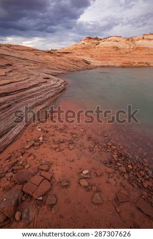 Lake Powell at Antelope Point, , Glen Canyon National Recreation Area - stock photo
