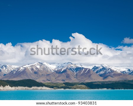 Lake Pukaki and Southern Alps, New Zealand