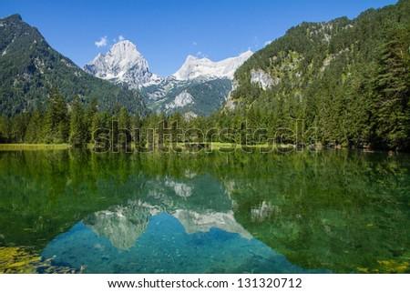 Lake Schiederweiher in Austria - stock photo