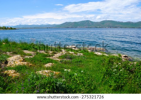 Lake Sevan, Armenia - stock photo