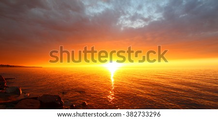 Lake Superior in northern Michigan is a spectacular summer vacation destination - stock photo