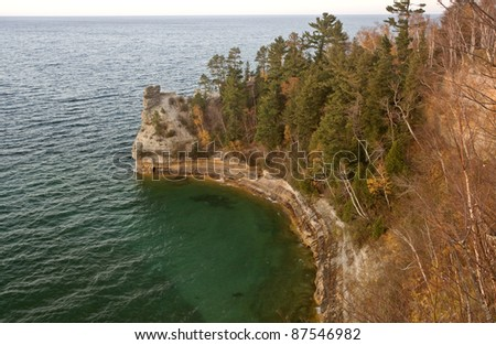 Lake Superior Northern Michigan fall autumn beautiful - stock photo