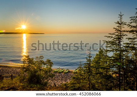 Lake Superior sunset at Miners Beach