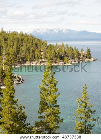 Lake Tahoe and Sierra Nevada mountains