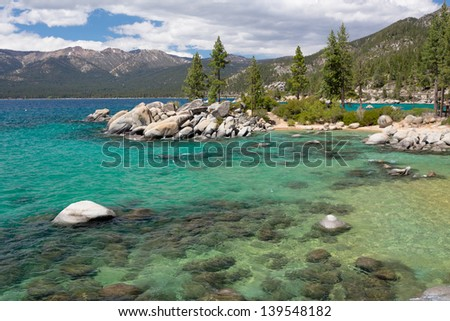 Lake Tahoe beach - stock photo