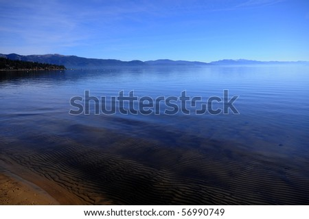 Lake Tahoe ocean view - stock photo