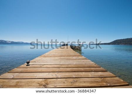 Lake Tahoe Pier - stock photo