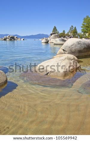 Lake Tahoe scenic beauty, California. - stock photo