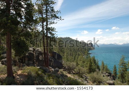 Lake Tahoe Shoreline View