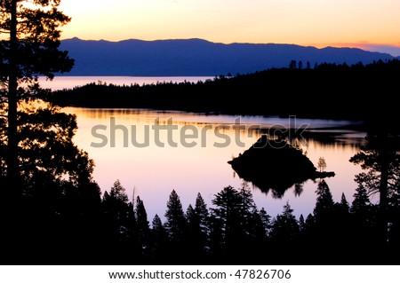Lake Tahoe sunrise - stock photo