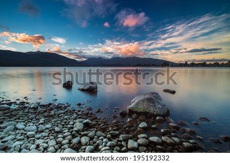 Lake Te Anau / New Zealand - stock photo