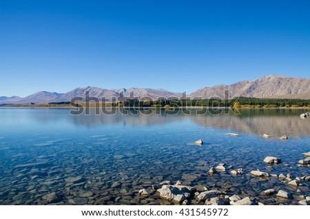 Lake Tekapo in New Zealand - stock photo