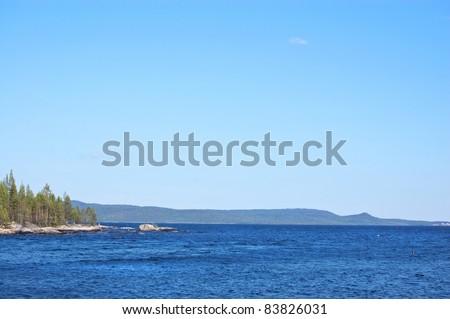Lake Tolvand in Northern Kareliya (Russia) - stock photo