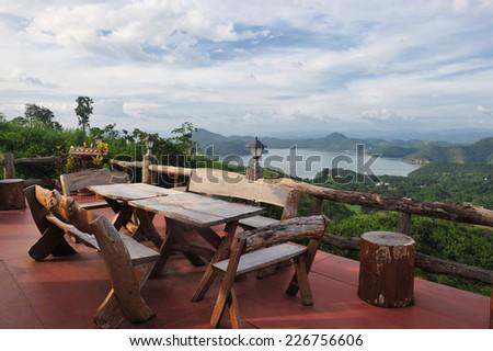 Lake View Resort - stock photo