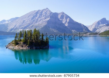 Lake Views in the Canadian Rockies - stock photo