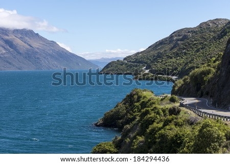 Lake Wakatipu - stock photo