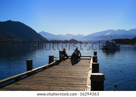 Lake Wanaka, New Zealand - stock photo