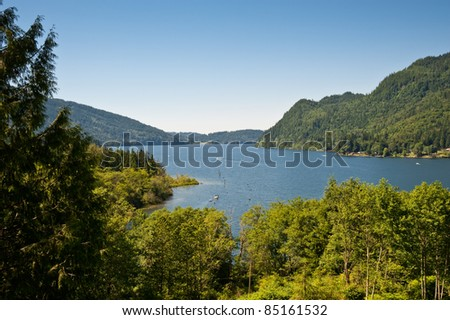 Lake Whatcom, Washington - stock photo