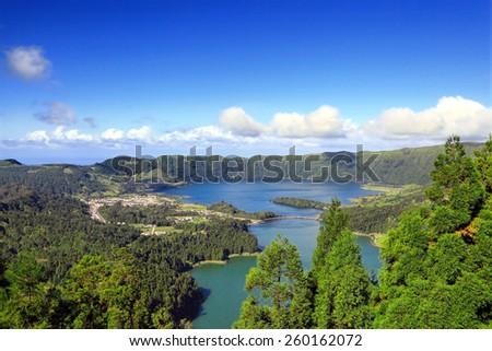 Lakes in the Mountains - stock photo