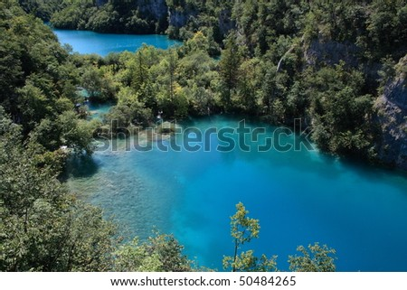 Lakes in the national park of plitvice, croatia